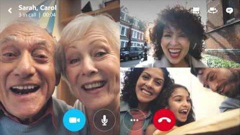 Skype - Gruppen-Videoanrufe