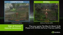 Age of Conan auf Intels G45 und Nvidias GeForce 9400