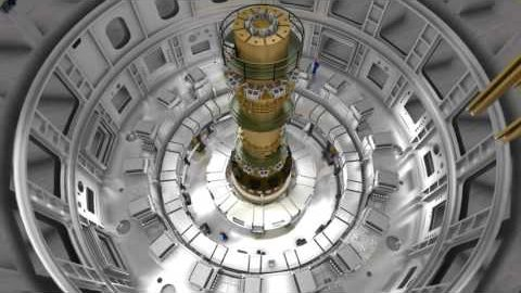 Montage des Cryostat - Iter