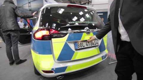 Polizeitautos mit LTE angesehen (Cebit 2016)