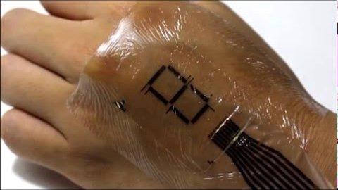 Ultradünne Leuchtdioden auf der Haut - University of Tokyo