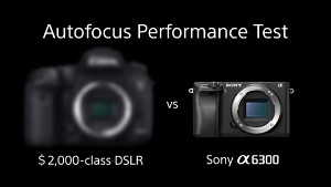 Sony Alpha 6300 - AF Performance Test (Herstellervideo)