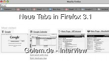 Aza Raskin - Neue Tabs in Firefox 3.1 (deutsch)