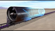 Animation des Hyperloop-Tests - Hyperloop One