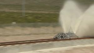 Hyperloop One - Propulsion Open Air Test