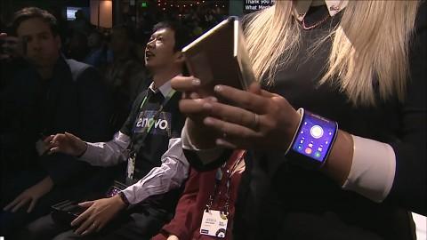 Biegsame Smartphones - Lenovo Tech World 2016