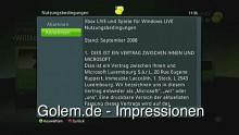 Neues Xbox Erlebnis (NXE) Nutzungsbedingungen - Impressionen