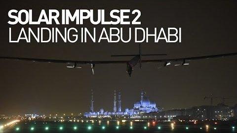 Bertrand Piccard landet in Abu Dhabi - Solar Impulse