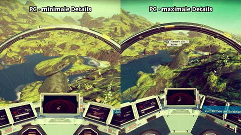 No Man's Sky - PC und PS4 im Splitscreen - Gameplay