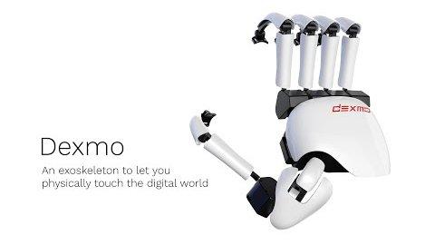 Dexmo Exoskelett für VR mit Force Feedback (Herstellervideo)