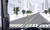 Volvo Pedestrian and Cyclist Detection System (Herstellervideo)