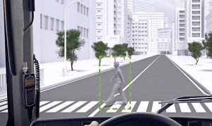 Volvo Pedestrian and Cyclist Detection System (Herstellervideo)