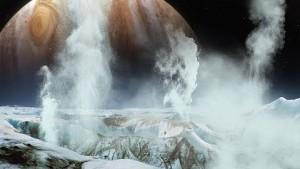 Nasa - Wasserfontänen auf dem Jupitermond Europa