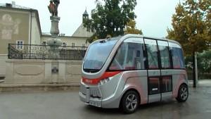 Selbstfahrender Bus in Salzburg (Video Land Salzburg)