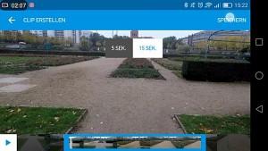 Schneiden und teilen (Quik-App von Gopro)