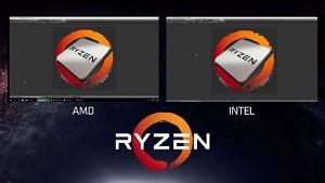 Ryzen gegen Core i-6900K (Blender und Handbrake)
