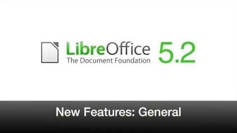 Libreoffice 5.2 - Herstellervideo