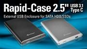 Sharkoon zeigt das Rapid-Case mit USB 3.1 Gen2