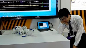 Diagnose-Pflaster überträgt Emotionen - Hands on (Cebit)