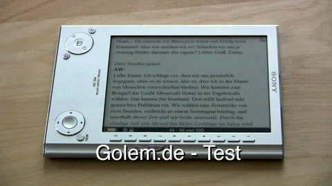 Sony PRS-505 E-Book-Reader - Test