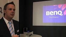 Cebit 2009 - Mini-Projektor BenQ P1 in Aktion