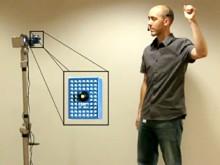 Roboter gehorcht auf Handzeichen