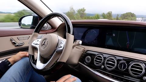 autonomes fahren mit der mercedes s klasse getestet video. Black Bedroom Furniture Sets. Home Design Ideas