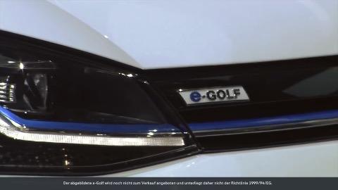 volkswagen stellt den e golf mit 300 km reichweite vor video. Black Bedroom Furniture Sets. Home Design Ideas