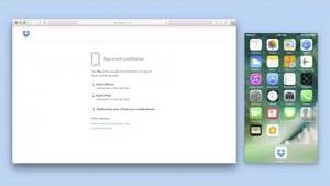 Dropbox-Login per App