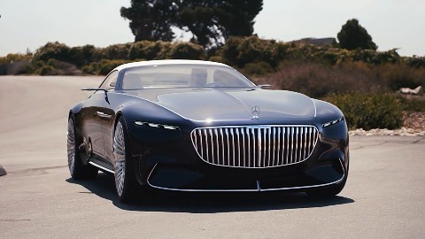 Elektro Cabriolet Vision Mercedes Maybach 6 Mit 500 Km Reichweite