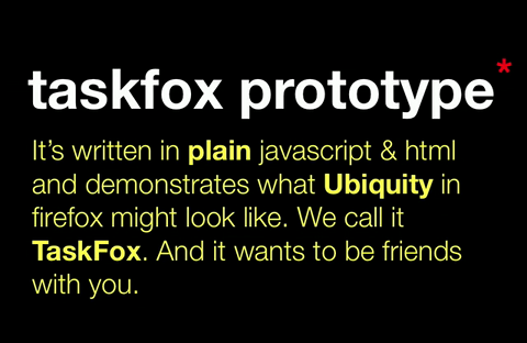 Aza Raskin zeigt Prototypen von Taskfox