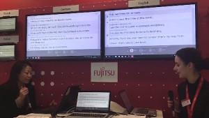 Fujitsus Übersetzungstechnik auf der Cebit 2017