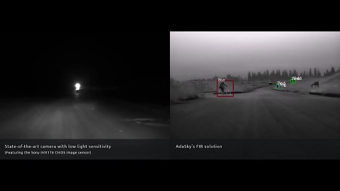 Vergleich herkömmliche und Infrarot-Kamera - Adasky