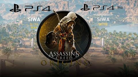 Assassin's Creed Origins - Grafik (PS4 vs PS4 Pro)