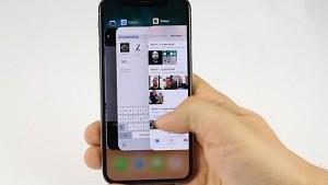 Gestensteuerung beim iPhone X angesehen
