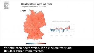 Die Temperaturen der letzten 136 Jahre (DWD)