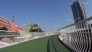 Neue Fahrrad-Hochstraße im chinesischen Xiamen