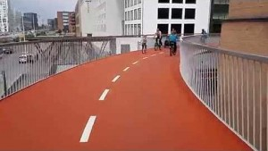Fahrradhochstraße Cykelslangen in Kopenhagen