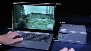 KFA2 zeigt das Snpr External Graphics Enclosure mit TB3