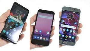 Honor 7X, HTC U11 Life und Moto X4 - Test