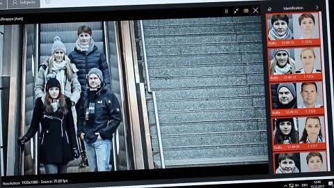 Gesichtserkennung beim Testprojekt Bahnhof Südkreuz