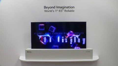 LG zeigt rollbares Display auf der CES 2018