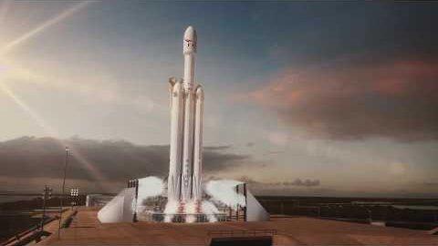 Falcon Heavy - Animation (Herstellervideo)