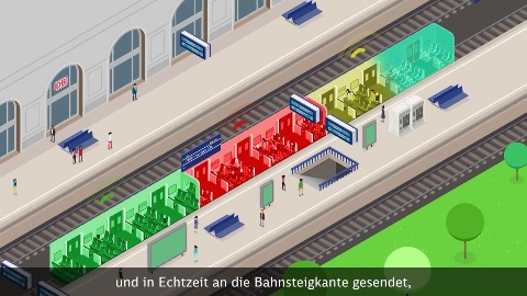 Leuchtende Bahnsteigkante (Herstellervideo)