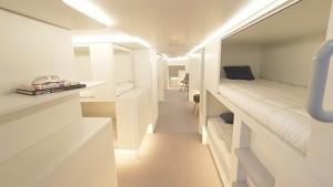 Schlafkabinen für den Flugzeugfrachtraum