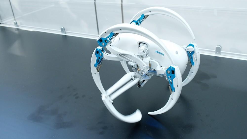 Bionic Wheel Bot von Festo angesehen und Interview