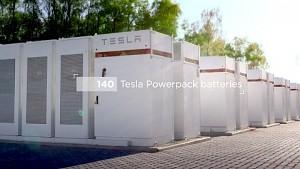 Tesla zeigt Netzspeicher in Belgien