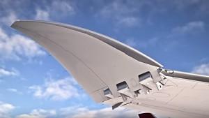 Boeing baut klappbare Tragflächen