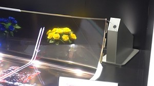 Transparentes, flexibles OLED von LG - Demo (Display Week)