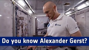 Esa stellt den Astronauten Alexander Gerst vor